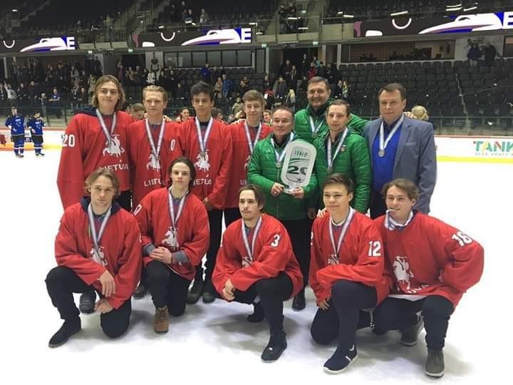 Lietuvos U-20 rinktinė Taline iškovojo sidabro medalius